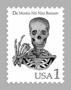 Skull Postage Stamp - Skullspiration.com - skull designs, art, fashion and more