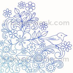 Hand-Drawn Psychedelic Paisley Henna Tattoo Doodle with Flowers and a Bird | Flickr - Photo Sharing!