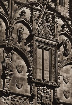Karel Plicka shot fine monochrome photographs of Prague from the and documented a dark and mysterious Prague, a gothic and baroque Praha which. Prague Czech, Architecture Details, Old World, Big Ben, Baroque, Monochrome, Mystery, Gothic, Dark