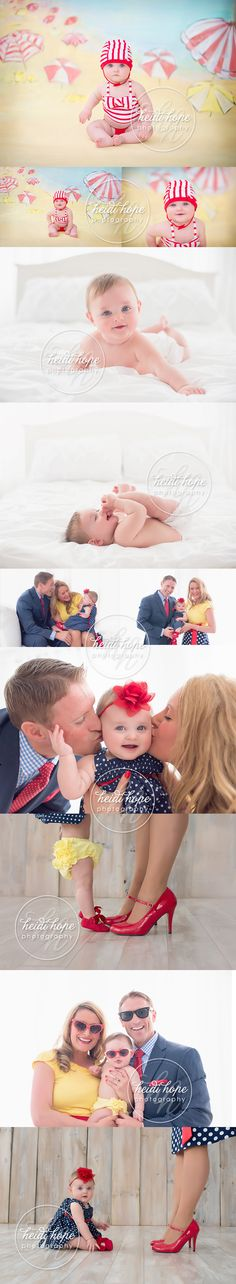 #Vintage inspired 6 month baby session with mom and dad! #vintagebeachscene #family