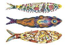 Wood Fish, Junho, Portugal, Rocks, Posters, Friends, Illustration, Aprons Vintage, Homestead