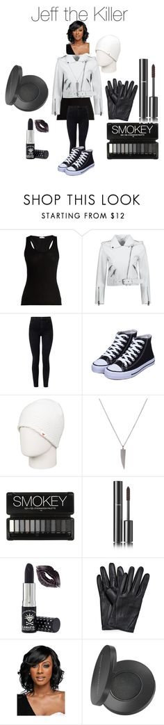 """Jeff the Killer Creepypasta"" by tori-camilleri on Polyvore featuring Skin, J Brand, Roxy, Chanel, Manic Panic NYC, WithChic and Youngblood"