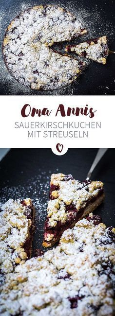 Köstlicher Sauerkirschkuchen mit knusprigen Streuseln – das Rezept findet Ihr auf unserer Blog!
