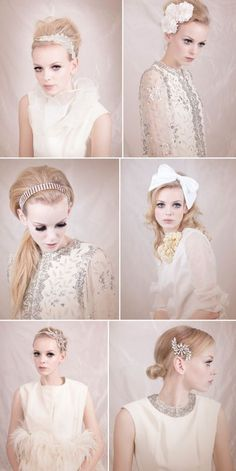 Gorgeous headpieces, why was there nothing like this when I got married? I looked everywhere for things like these.