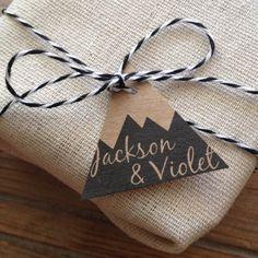 mountain wedding favor gift tags