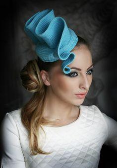 "Hat ""Blue Wave"" | Evening hats by Anna Mikhaylova, via Behance"
