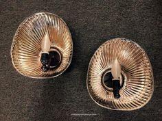 $795...Pair of Vintage Mercury Shades wall lights | Omega Lighting Design