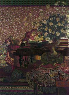 The Piano, Edouard Vuillard.  Probably from around 1895-1896.