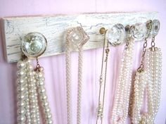Knob rack - could be used for stockings at Christmas time too