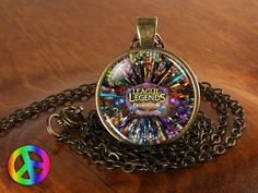 League of Legends Video Game Pendant Necklace Jewelry Cosplay Men or Womens Gift