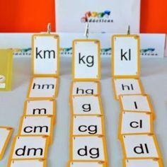 """""""Escalera de medida"""". Baraja del sistema métrico decimal para que niños de 8 a 10 años interioricen las relaciones entre las unidades de medida."""
