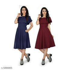 Dresses Women's Solid Maroon Crepe Dress Fabric: Crepe Sleeve Length: Short Sleeves Pattern: Solid Multipack: 2 Sizes: S (Bust Size: 36 in Length Size: 44 in)  XL (Bust Size: 42 in Length Size: 44 in)  L (Bust Size: 40 in Length Size: 44 in)  M (Bust Size: 38 in Length Size: 44 in)  XXL (Bust Size: 44 in Length Size: 44 in) Country of Origin: India Sizes Available: S, M, L, XL, XXL *Proof of Safe Delivery! Click to know on Safety Standards of Delivery Partners- https://ltl.sh/y_nZrAV3  Catalog Rating: ★3.9 (455)  Catalog Name: ☄️Urbane Graceful Women Dresses CatalogID_818971 C79-SC1025 Code: 646-5488863-