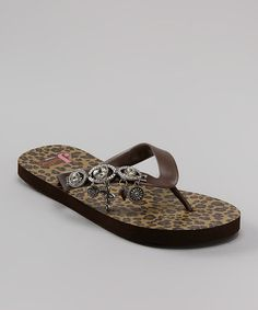32aca4daed6c Take a look at this Brown Libby Flip-Flop - Women by Justin Boots on