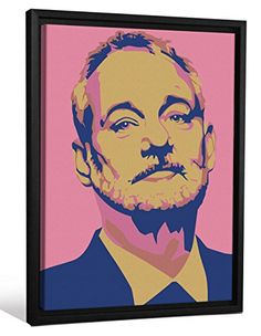 Cannonwalls FCNV2244 Framed Gallery Wrap Heavyweight Canvas Art Wall Decor Bill Murray Pink Navy Andy Warhol at 26375 High x 20375 Wide x 125 Thick >>> Learn more by visiting the image link. This is an affiliate link.