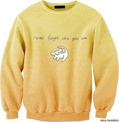 Leon King style sweater decor.                          sweater decor, sweater customizing, yellow sweater, Lion King picture