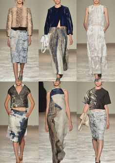 Gabriele Colangelo S/S 2014-Textured Prints - Luxurious Finishes – Mineral Inspiration – Abstract Surface Prints – Engineered Placement – Rock Surface Pattern – Beauty ...