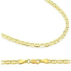 """14k Solid Yellow Gold Gucci Mariner Chain Necklace 2.1mm 18"""" - 3.5 grams - with Lobster Lock Clasp Sonia Jewels. $212.00"""