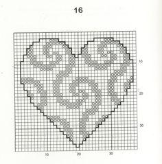 Cross Stitch Craze: 30 Free Easy Heart Cross Stitch Patterns