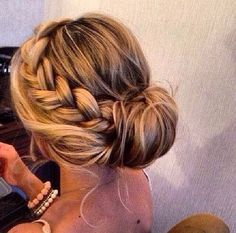 #hair #updo #braid possibility for stacy's wedding