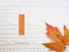 Lowercase letter l with glitter leaf and sweater knit. #fall #autumn #alphabet #typography #initial #monogram #font   maple leaf
