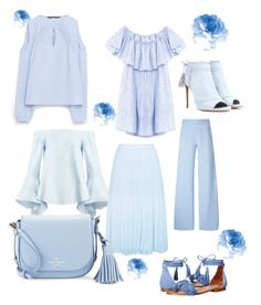 """""""Babyblue"""" by hedddis-xx on Polyvore featuring Aquazzura, Christopher Kane, New Look, Kate Spade and Steve Madden"""