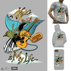 Music is my life on Threadless