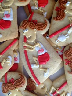 Pole Vault Cookies~                      By Oh Sugar Events: Pole Vault Cookies, red