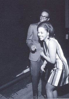 Tammi Terrell and Marvin Gaye share a laugh during rehearsal.
