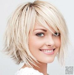18. #Shag-like Bob with Razored #Layers - 38 Hairstyles for Thin Hair to Add…