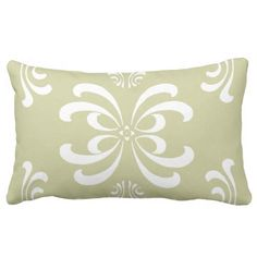 Custom Color Nouveau Flourish Lumbar Pillow