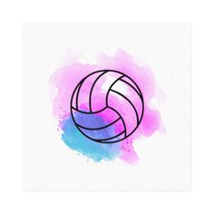 Shop Volleyball Watercolor Panel Wall Art created by RicardoArtes. Volleyball Tattoos, Volleyball Drawing, Volleyball Workouts, Volleyball Quotes, Volleyball Pictures, Volleyball Shirts, Volleyball Setter, Cheer Pictures, Volleyball Posters