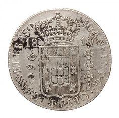 Numismática: Moeda Brasil colônia. D. João Príncipe Regente. 960 reis, prata. MBC +