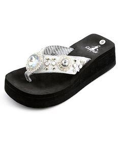 9469136ded33 Corkys Footwear Silver Dana Thong Sandal
