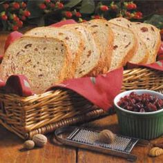 """Harvest Fruit Bread Recipe -""""My sister is raising two little girls but always makes time to bake homemade bread,"""" writes Sandy Vias, San Leandro, California. """"They like this loaf best. It's studded with fruit and nuts, and terrific toasted and spread with butter."""