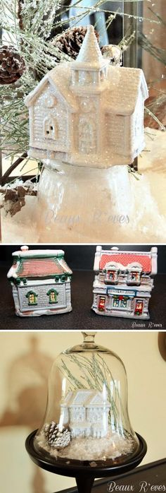 Dollar Store Snow Village.