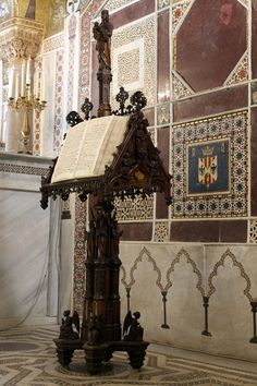 Gothic choir book stand from the 12th-century Cappella Palatina of Palermo.