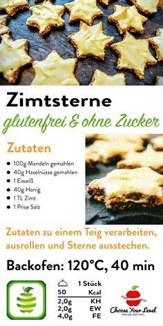 Zimtsterne Glutenfrei - Choose Your Level™ - Zimtsterne glutenfrei, Zimtsterne ohne Zucker, einfaches Rezept Zimtsterne, paleo zimtsterne, steinz - Patisserie Sans Gluten, Dessert Sans Gluten, Bon Dessert, Dessert Blog, Paleo Dessert, Gluten Free Desserts, Gluten Free Recipes, Eat Tumblr, Drinks Tumblr