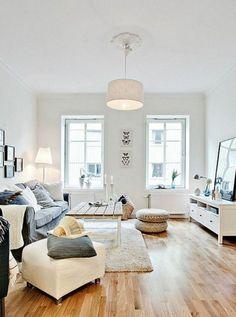 Weisses Wohnzimmer Mit Modernen Mbeln