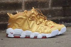 """c275f165f1 Discount Nike Air More Uptempo """"Metallic Gold"""" Online New Release – Michael  Jordan Shoes"""