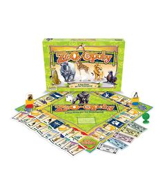 Loving this Zoo-Opoly Board Game on #zulily! #zulilyfinds
