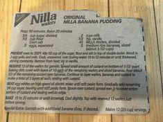 Original Nilla Wafer Banana Pudding Recipe