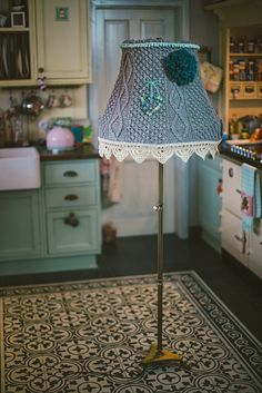 Not sure what to knit now that warmer weather is here? Knitted Lampshade Inspiration!