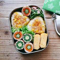 Cute Food, A Food, Food And Drink, Yummy Food, Japanese Lunch, Japanese Food, Bento Recipes, Baby Food Recipes, Vegan Lunches