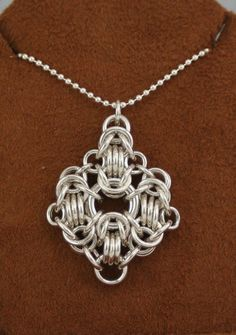 Sterling Silver Rondo a la Byzantine Pendant by TheChainmailleLady