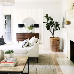 White and clean living room