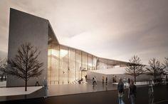 Bruneck - Kletterhalle und Parkplatz