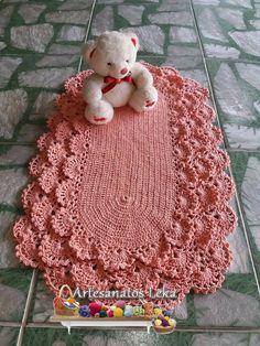 Tapete rendado em crochê sem flores!