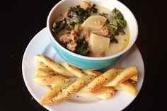 Paleo Zuppa Toscana (Paleo Cupboard) -1 medium onion, chopped - 3 cloved garlic, chopped - 2 Tbsp. coconut oil or bacon fat - 1 pound ground Italian sausage - 1 tsp. red pepper flakes (optional) - 8 cups chicken stock - 4 medium turnips, skin removed and chopped - 4 cups chopped kale leaves (stems removed) - 1 cup almond milk (unsweetened) - Sea salt and ground black pepper to taste