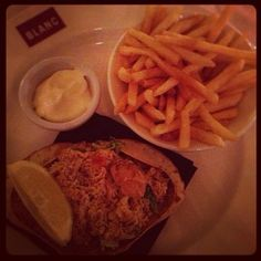 by @ali_wells #brasserieblanc #raymondblanc #crab #nom four year anniversary