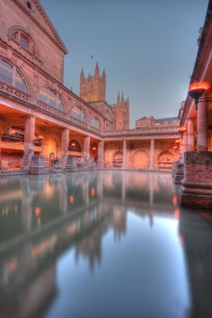 Most beautiful places in England :: The History Baths at Avon, England
